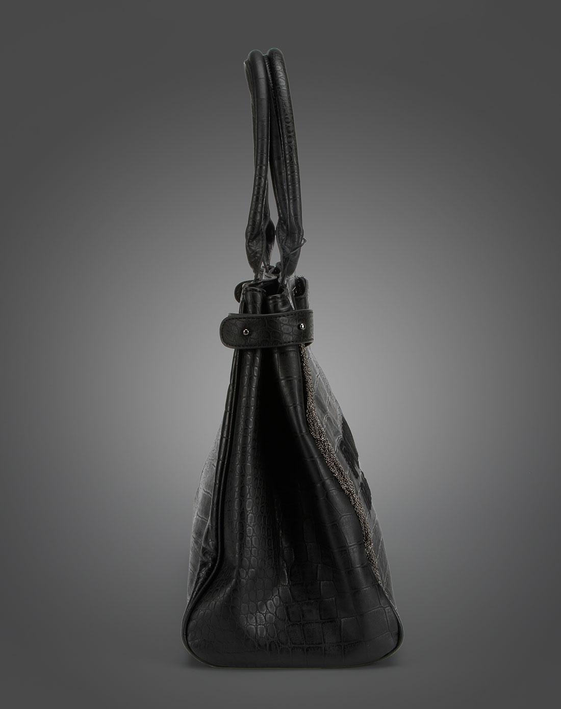 黑色鳄鱼纹包包