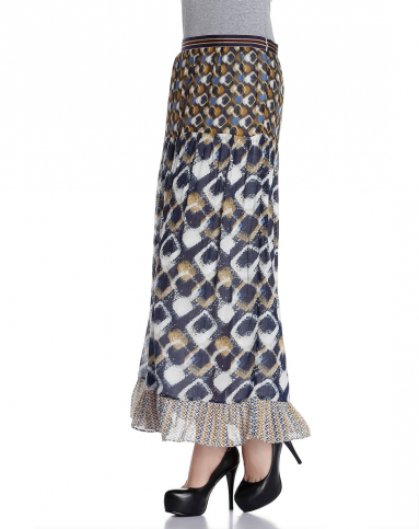 玛丝菲尔marisfrolg多色花纹时尚长裙a11211262