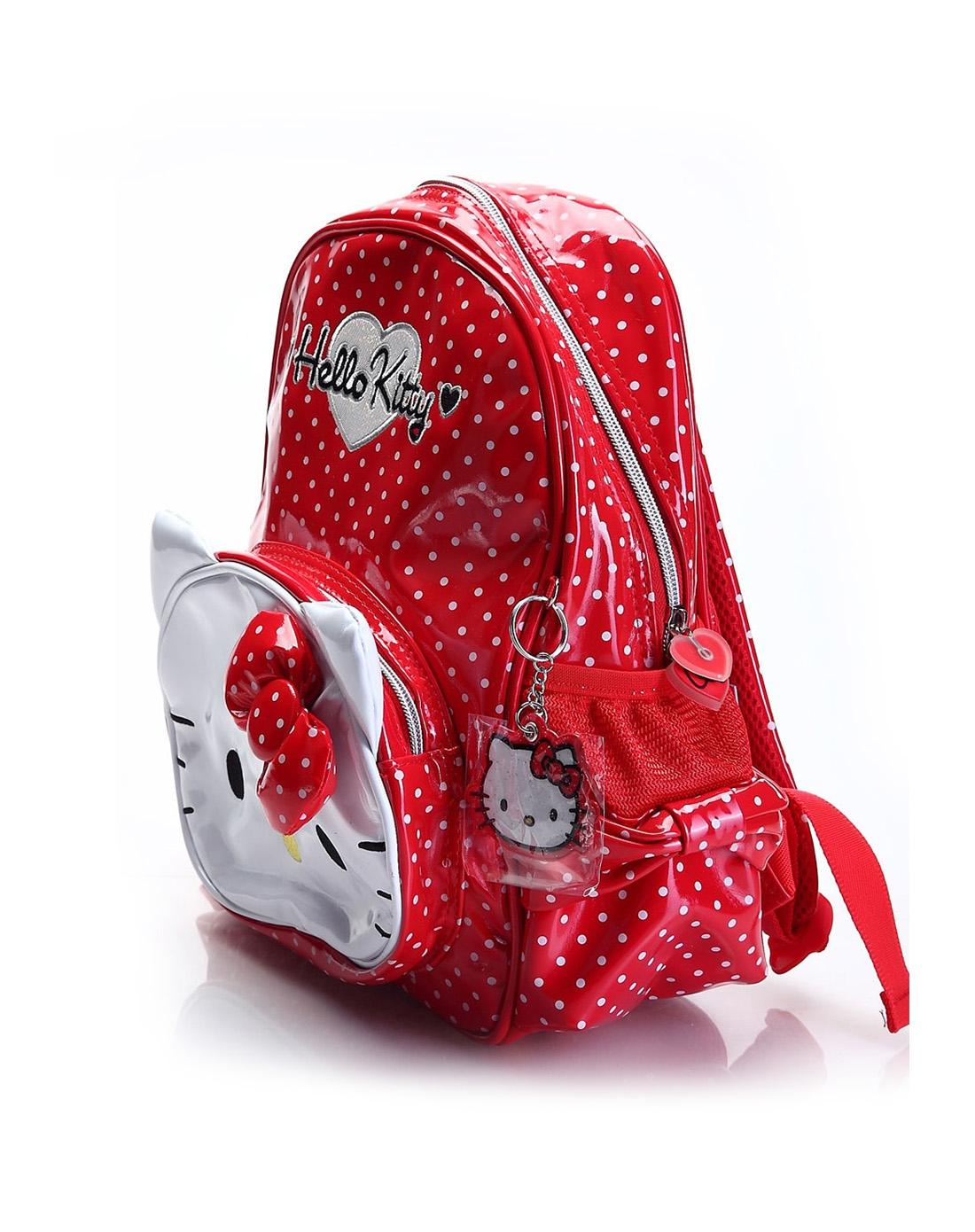lokitty女童红色儿童背包