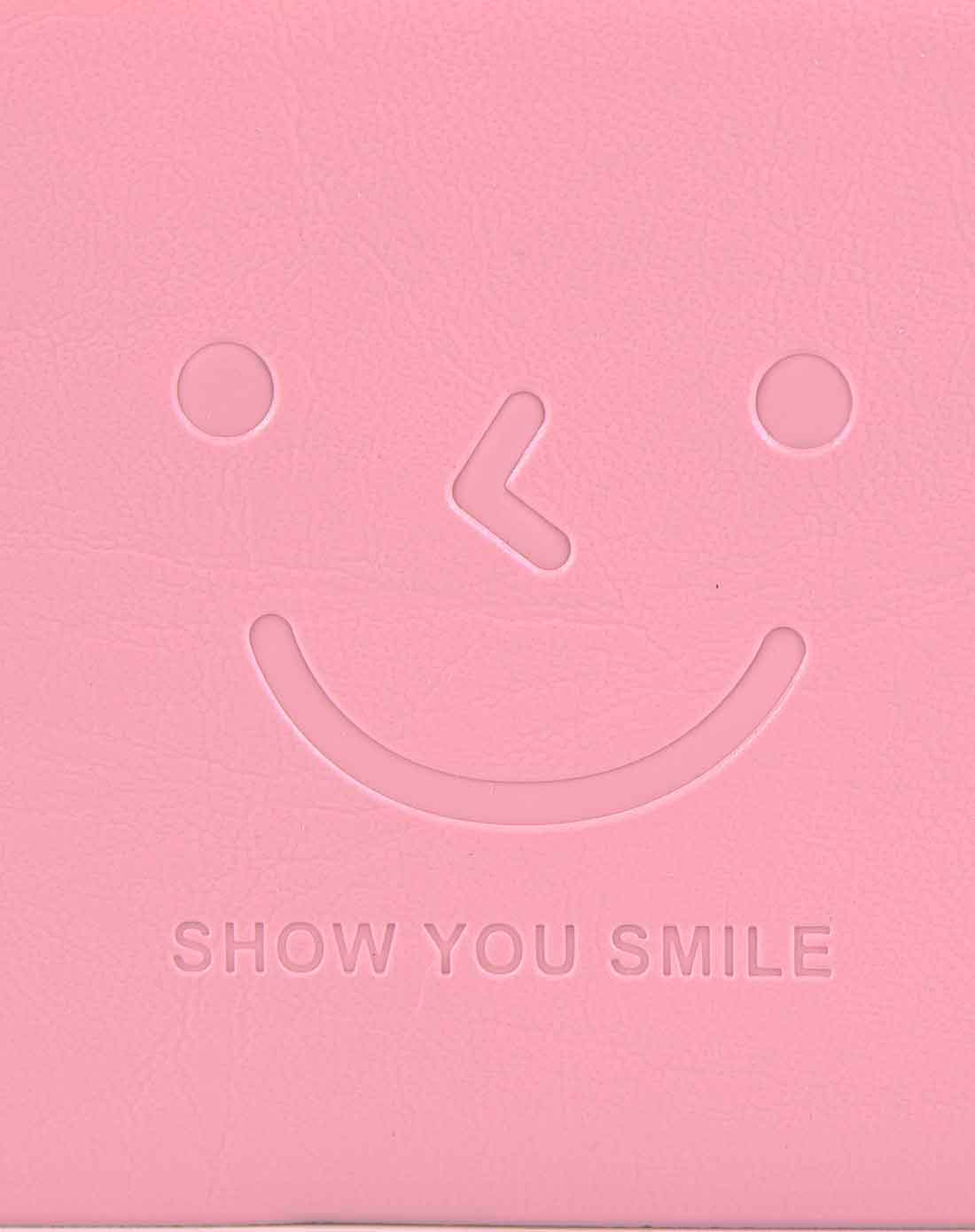 粉色可爱笑脸长条便签本