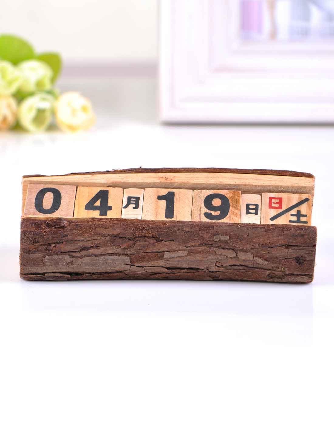 木质做旧小日历
