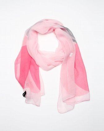浅粉色丝巾