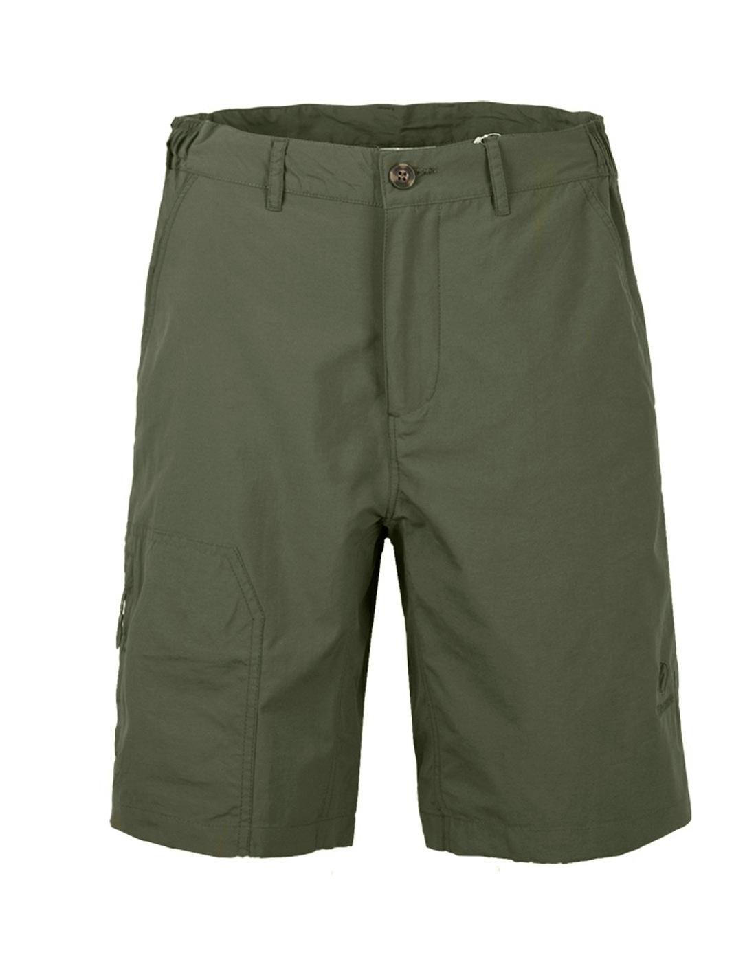 橄榄绿户外速干短裤
