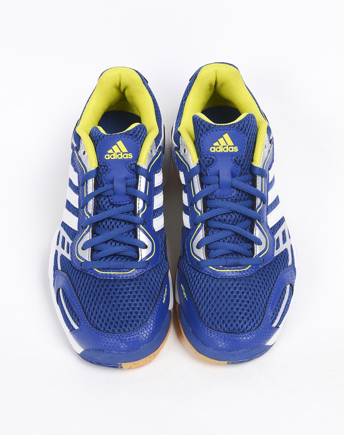 阿迪达斯adidas男鞋专场 男子蓝色室内鞋