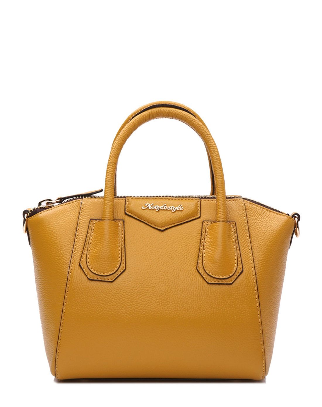 style黄色牛皮时尚可爱女包waomk2481-137