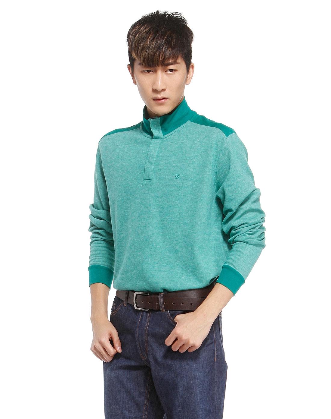 男手绘头像绿毛衣