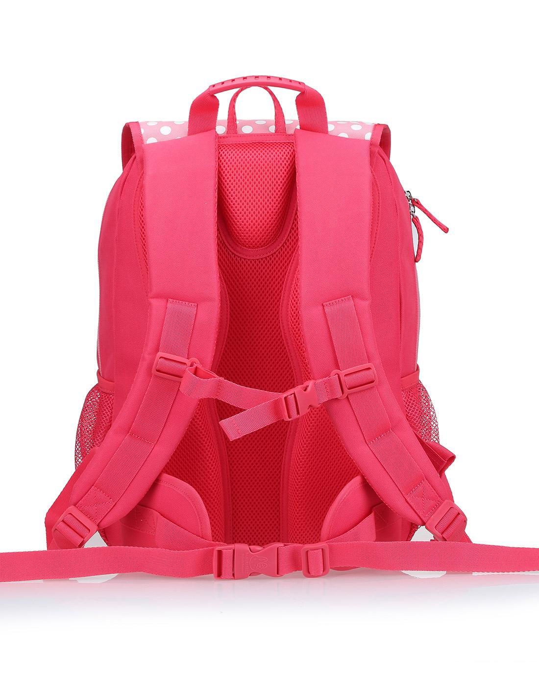 女红色清新中学小学生可爱背包