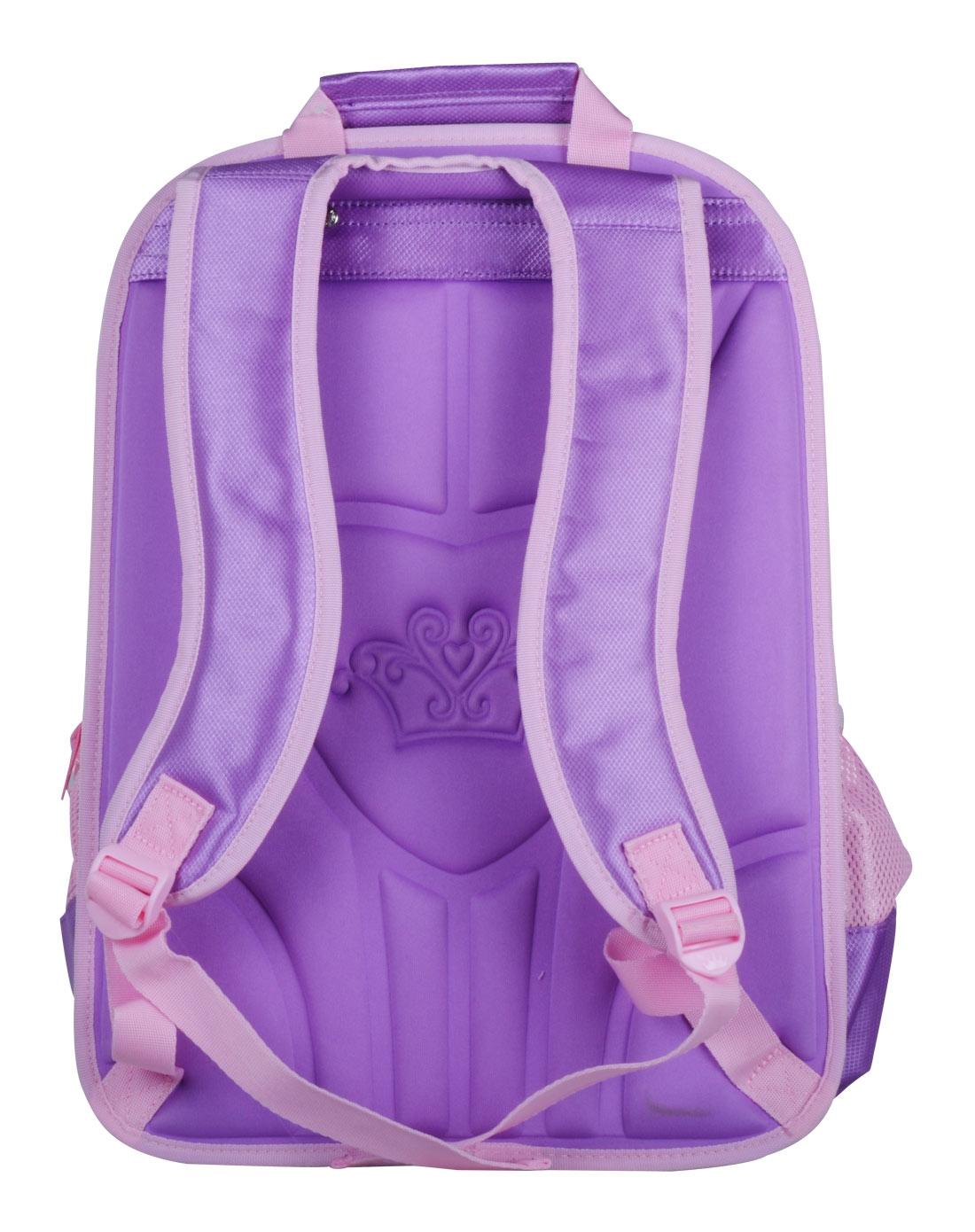 迪士尼disney儿童用品专场女童紫色43l可爱公主学生