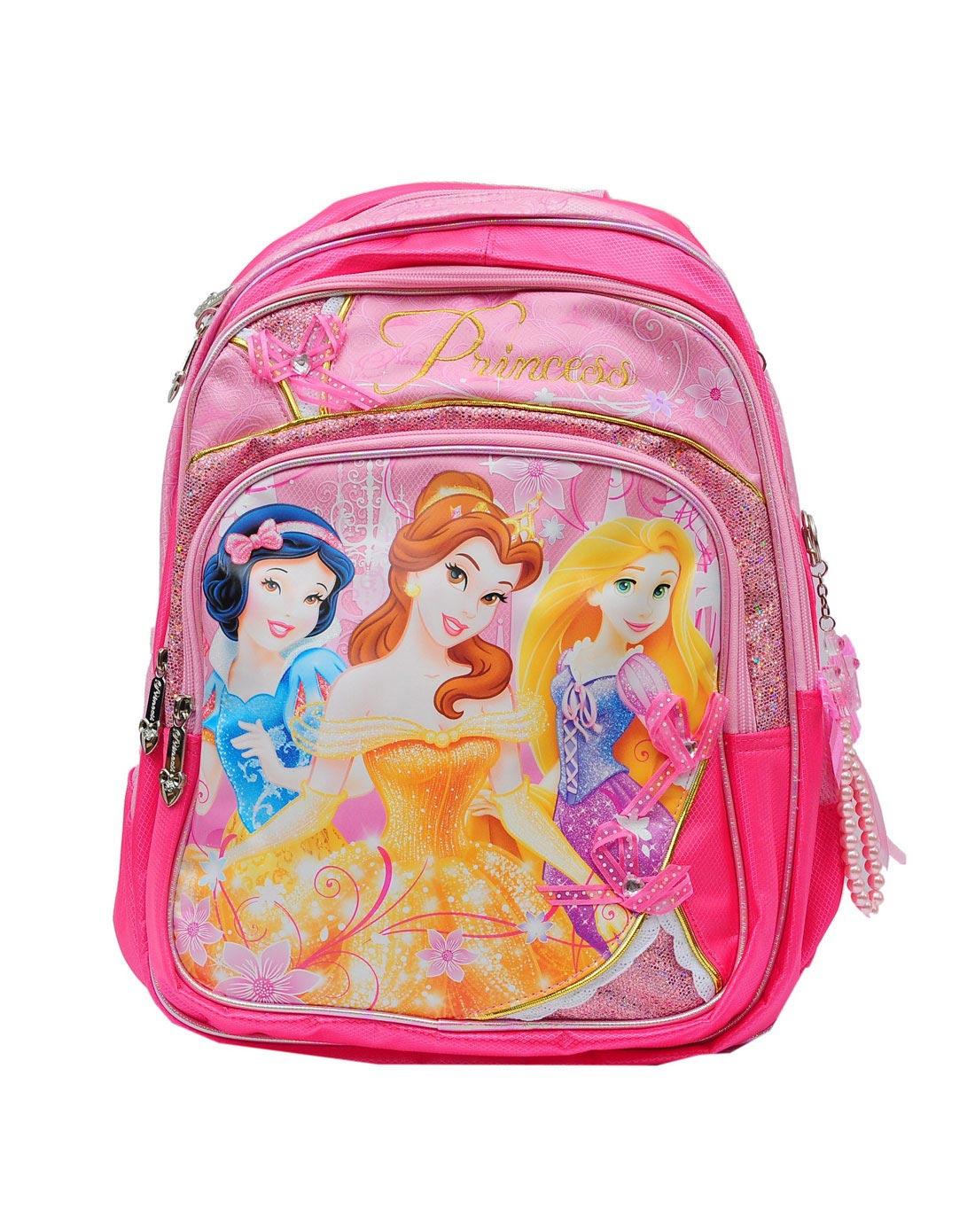 迪士尼disney儿童用品专场女童粉色40l公主学生书包