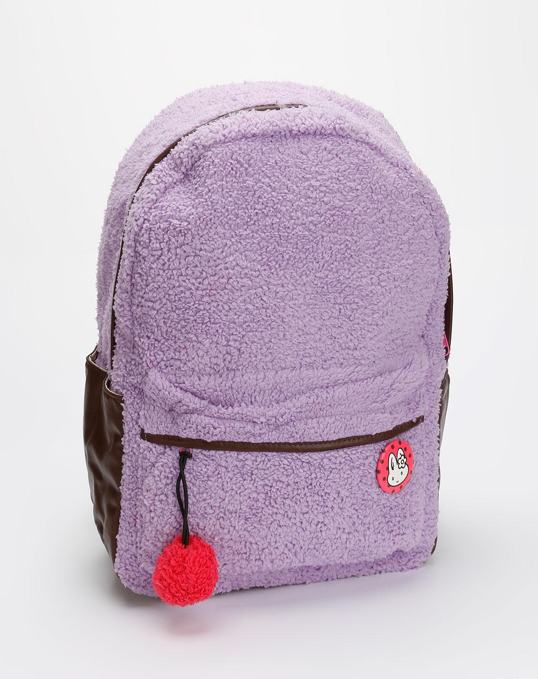 贝妮兔banirabbit女款紫色暖暖冬日双肩背包09220264