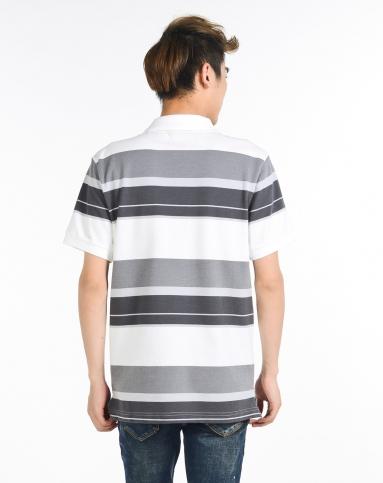 耐克nike男装专场-男子白底灰色短袖polo衫