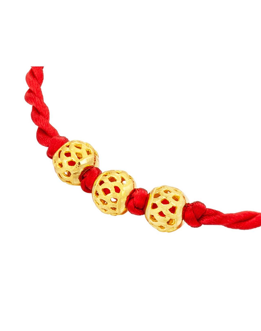 足金圆形转运珠黄金手链手绳(计价)1.88克
