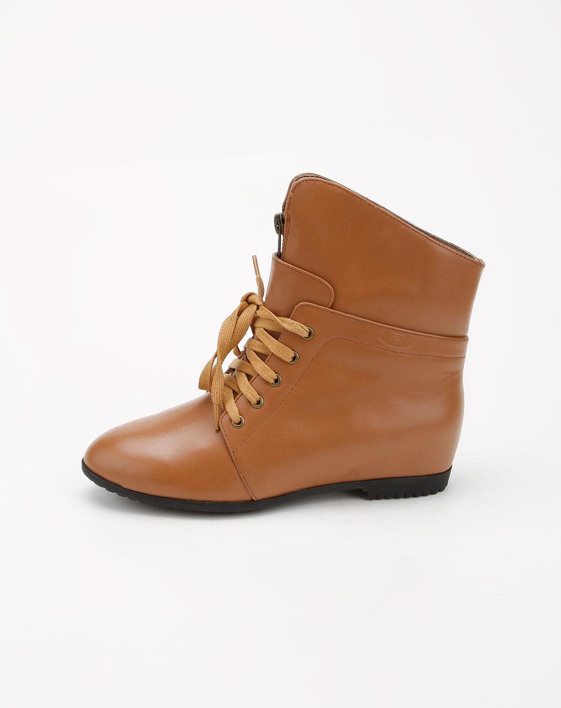 propét波派浅棕色系带短靴pw03901-17