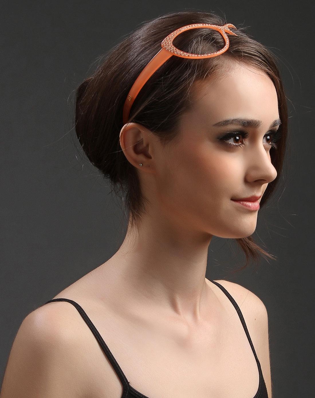 粉色时尚眼镜造型个性发箍