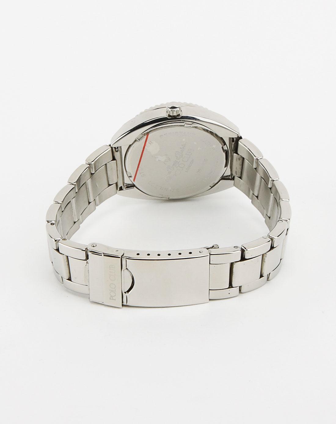 中性浅蓝色圆形手表