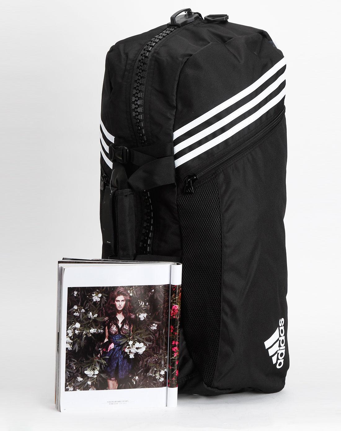 阿迪达斯adidas男装专场-中性黑色时尚单肩运动背包