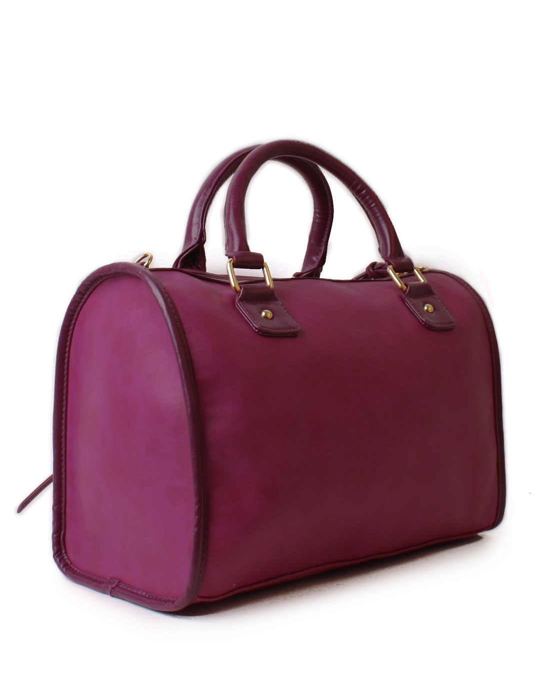 happy lane皮具-女款紫色欧式双链波士顿