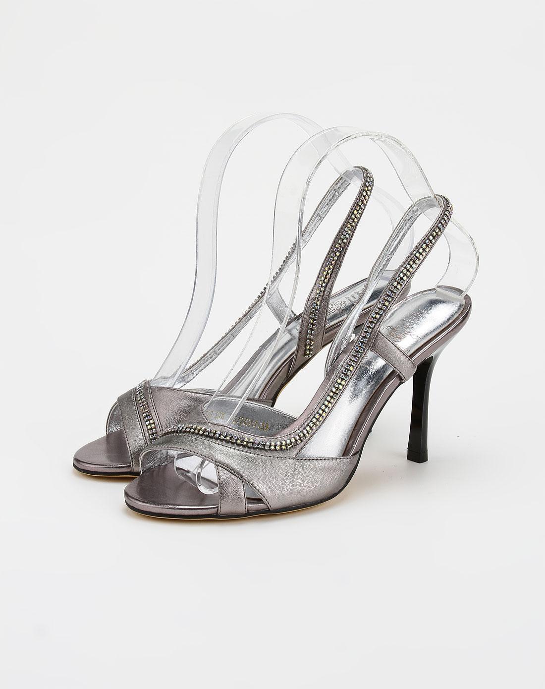 平底凉鞋钻
