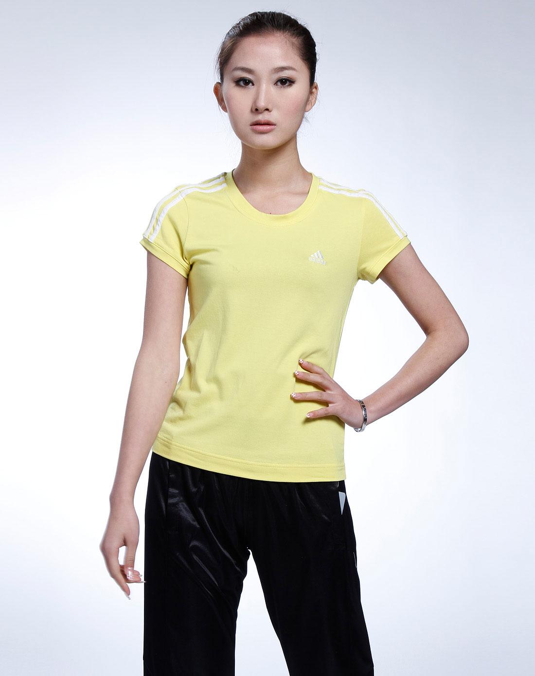 女款荧光黄色短袖t恤