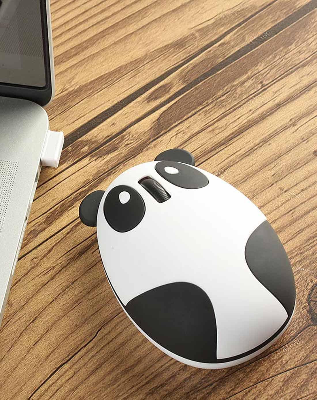(多色)创意usb无线熊猫鼠标