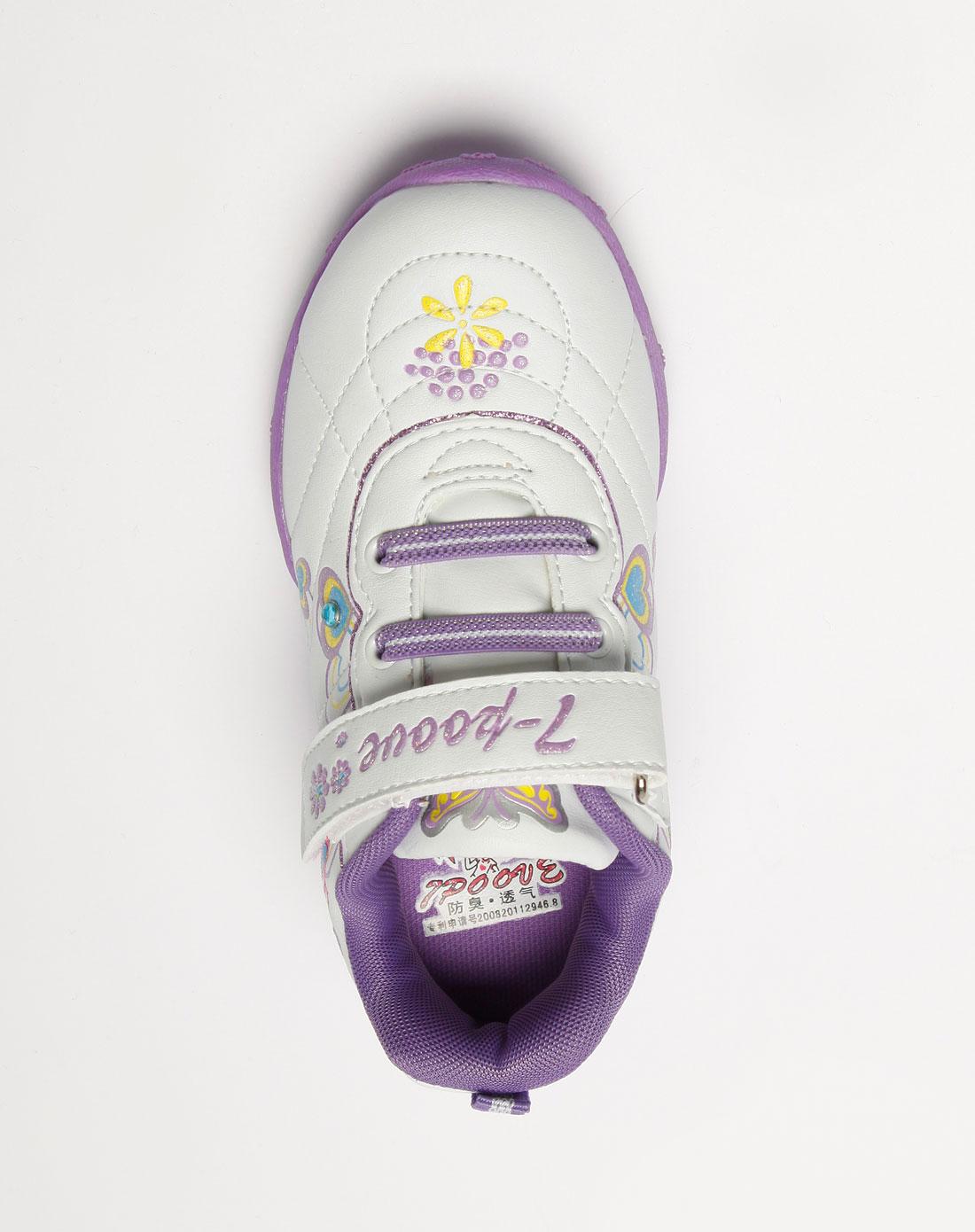 七波辉 女童紫色/白色运动鞋