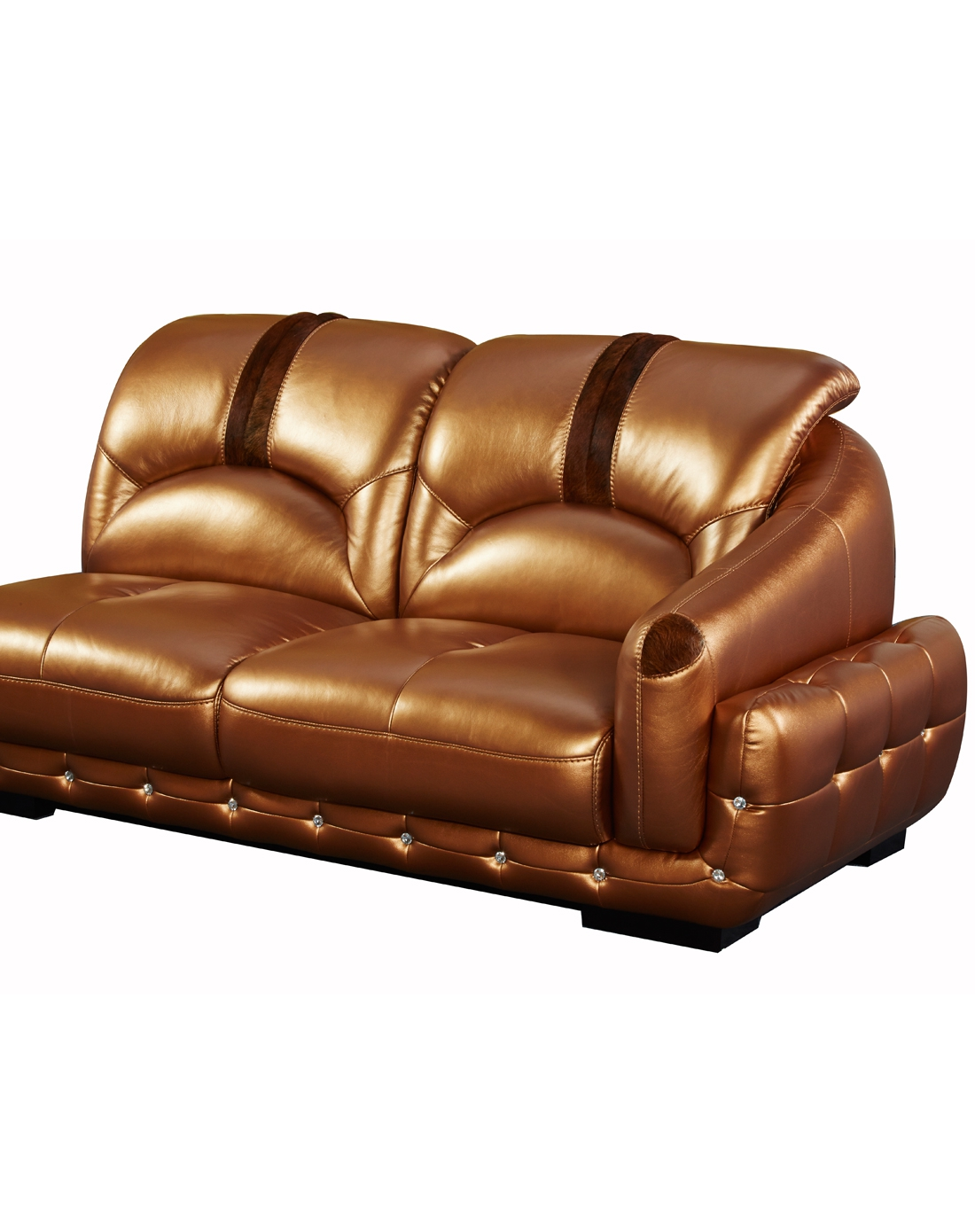 欧式现代简约真皮沙发(右扶三人位+单人位+左贵妃位)