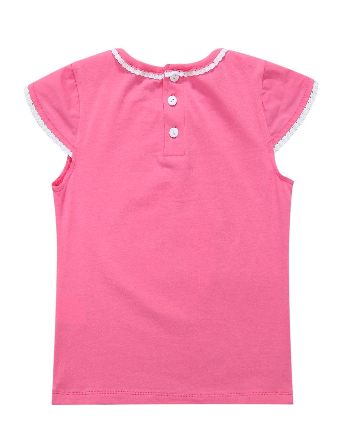 粉色手绘衣服图片