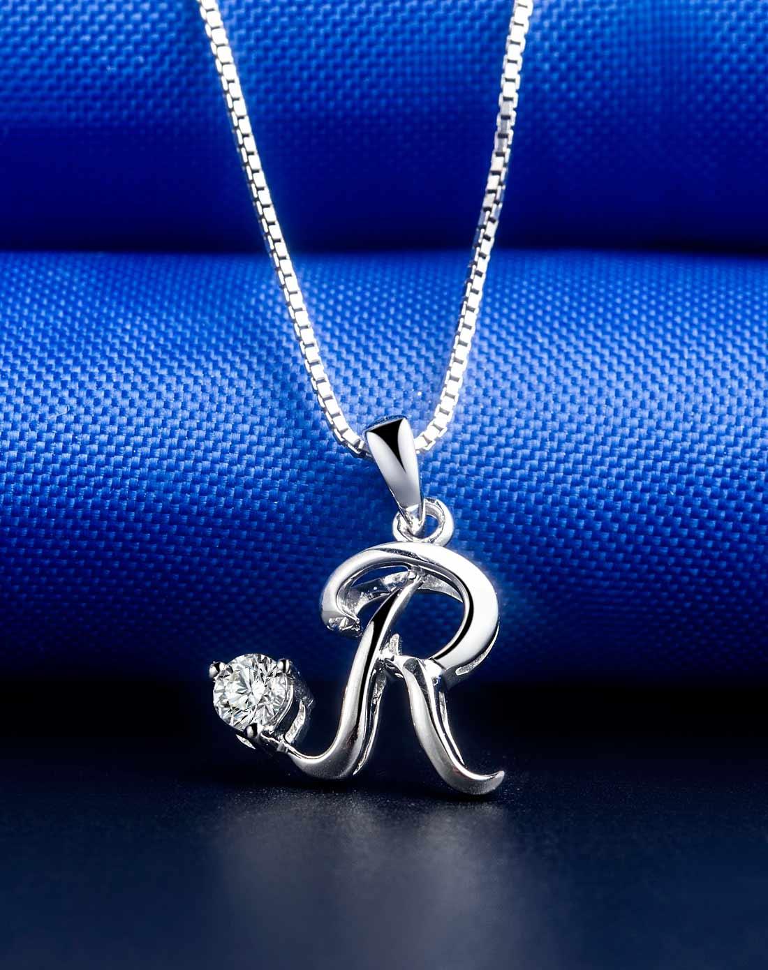 �R�V�_18k钻石吊坠字母系列-r