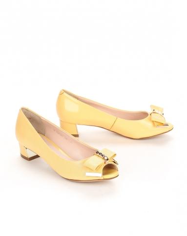 哈森harson集团品牌女鞋2014弗洛斯flossie女款黄色图片