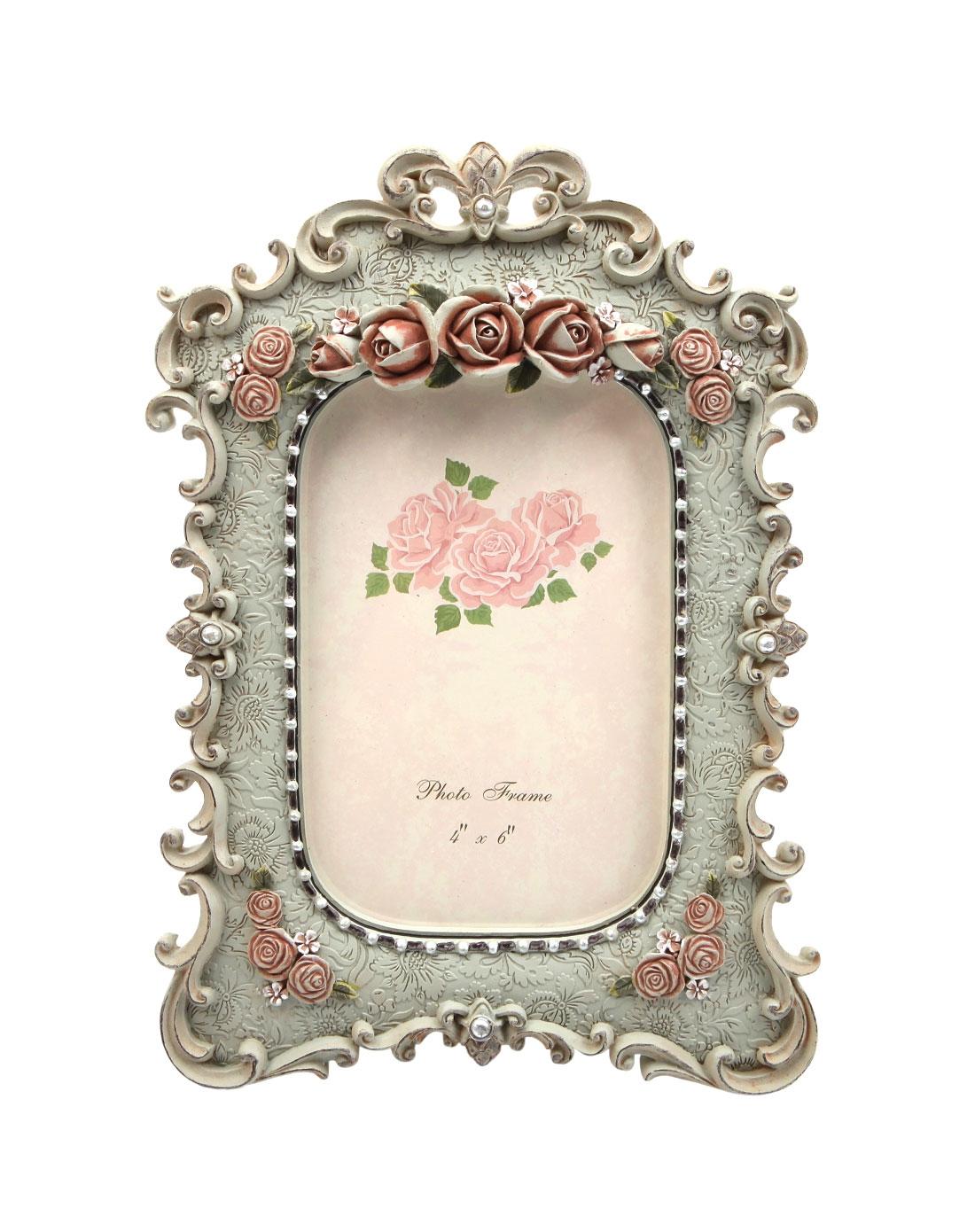 > 欧式宫廷玫瑰花饰唯美古典相框