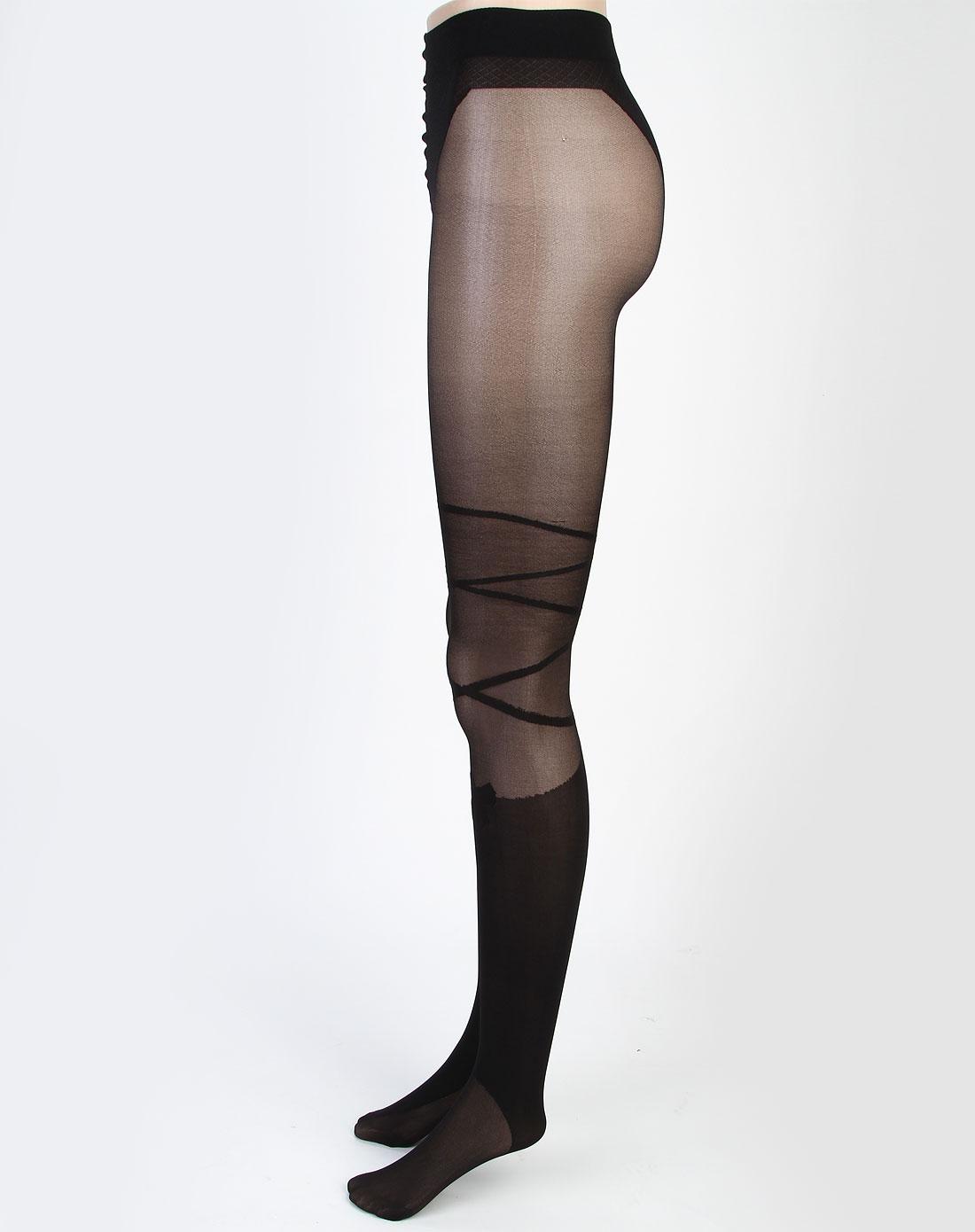 寓美女款黑色连裤袜1663106