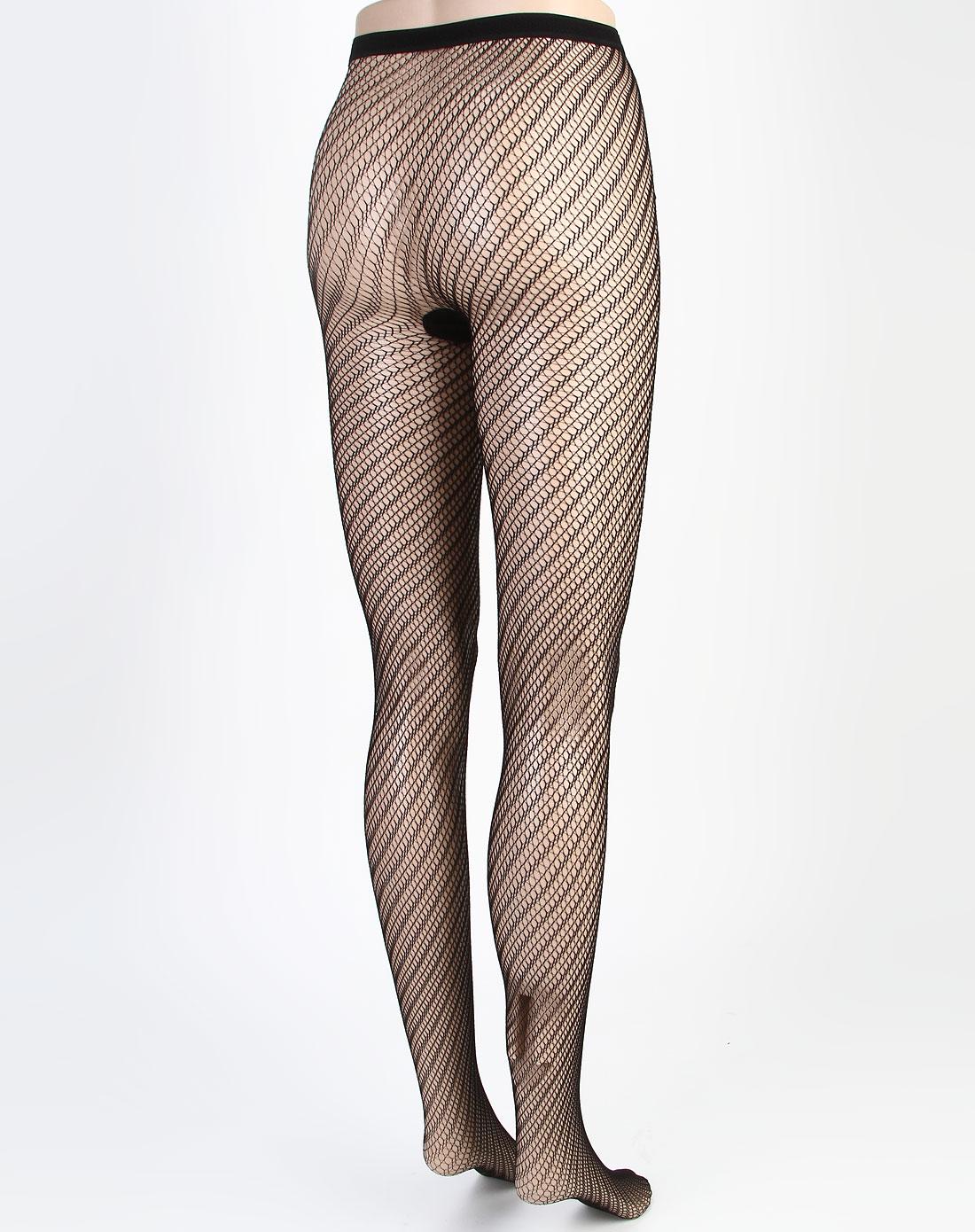 寓美女款黑色都市丽人网纹裤袜1901001