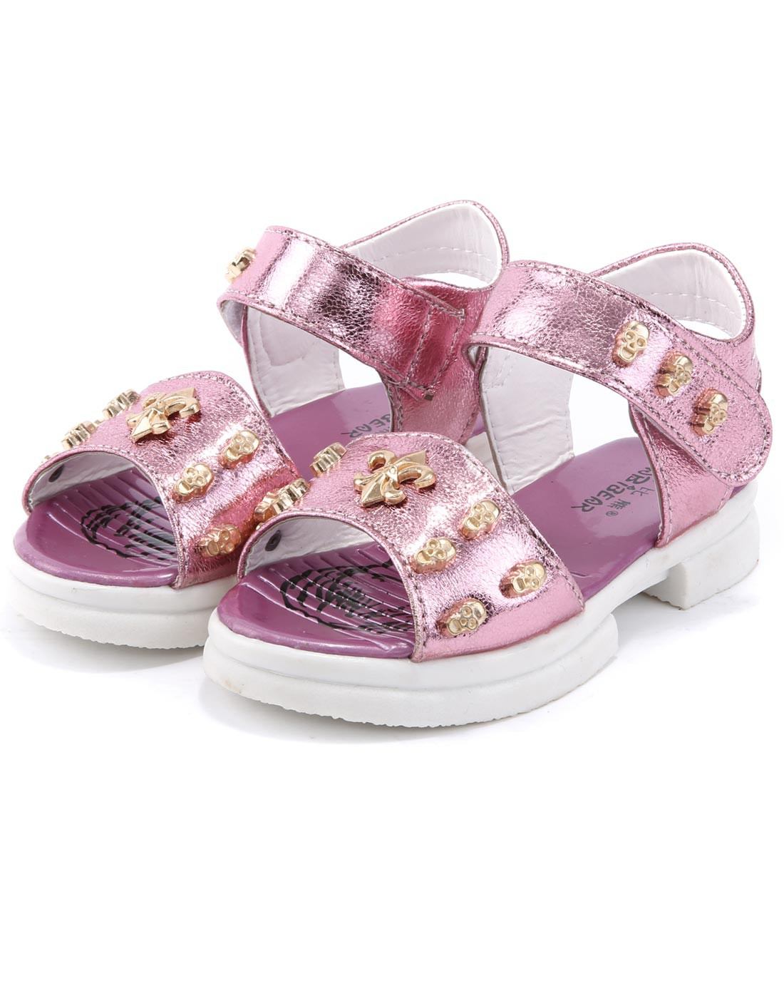 哈比熊儿童专场女童粉色儿童凉鞋g07606