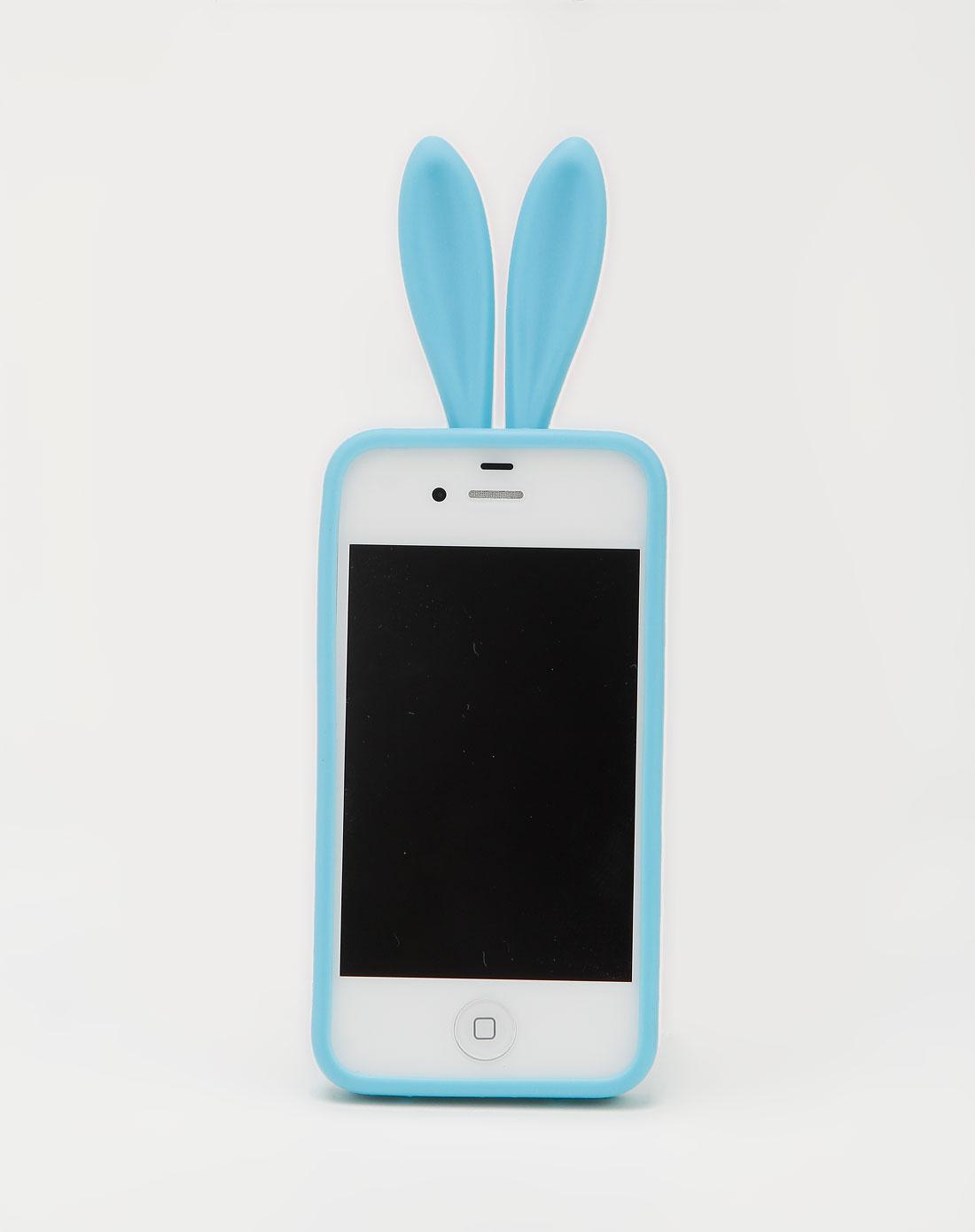 iphone4/4s 蓝色可爱兔子手机套