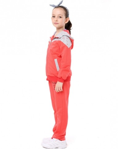 女童西瓜红运动套装