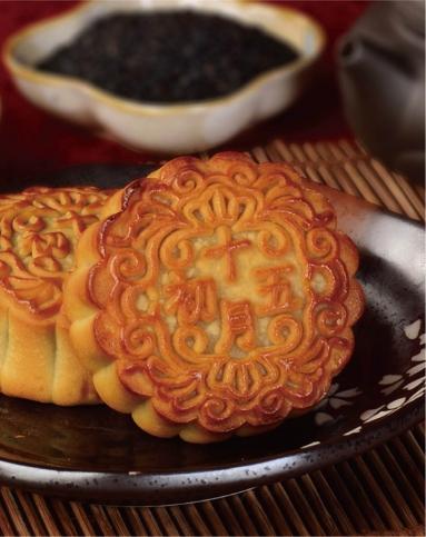 核桃黑芝麻蓉月饼(纸盒)