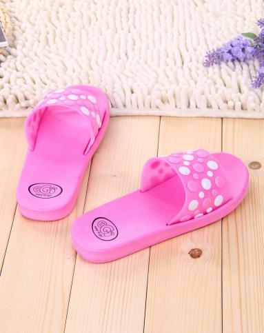 女士粉色可爱圆点夏季家居室内拖鞋