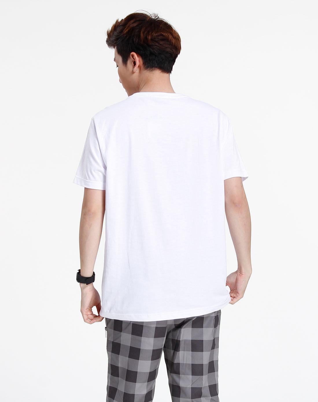 森马-男装-白色时尚短袖t恤图片