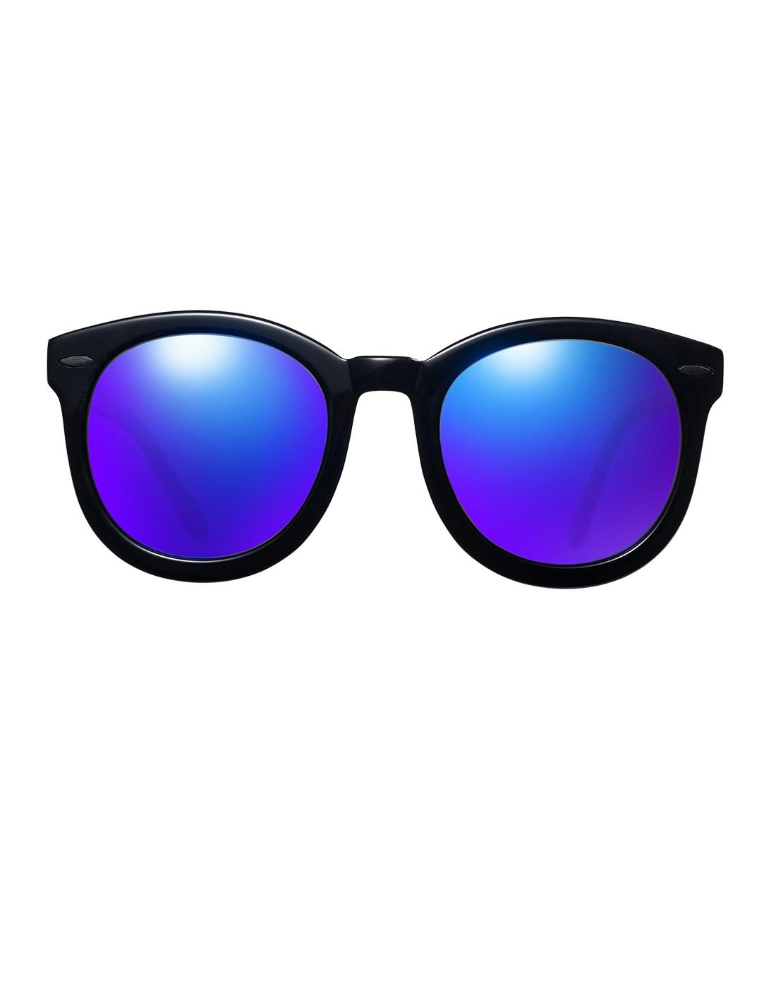 时尚复古圆框偏光太阳眼镜