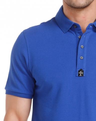 深蓝色简约成熟短袖polo衫