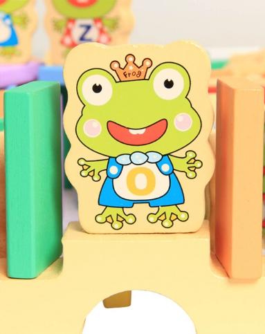 中性彩色金钥匙青蛙王子公主多米诺桶装