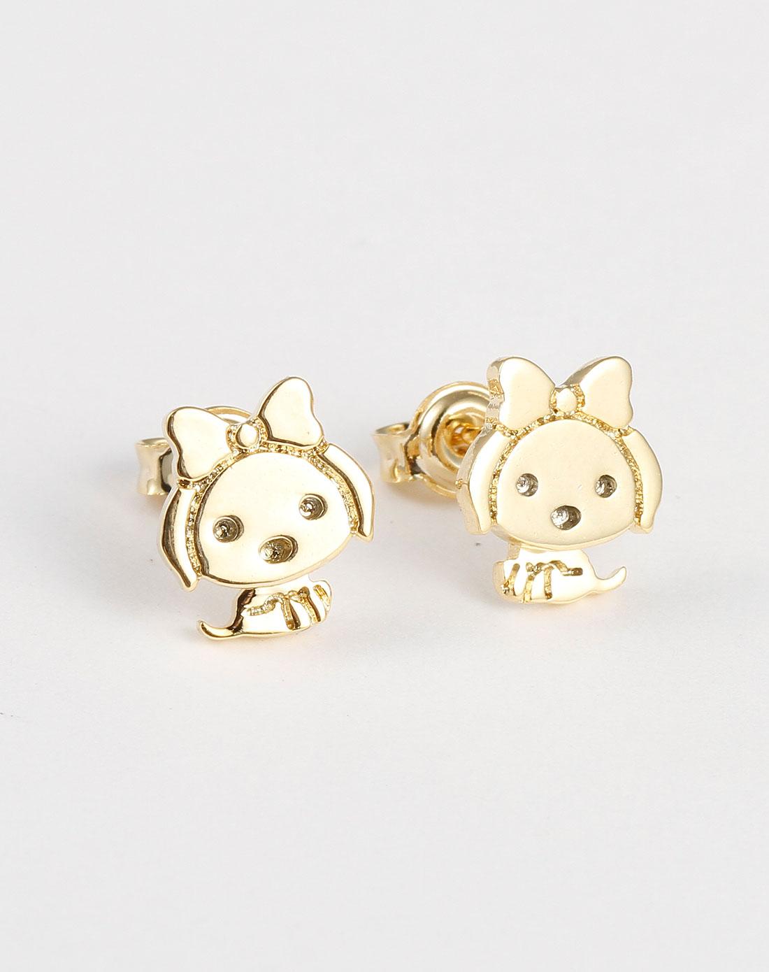 金色可爱耳环