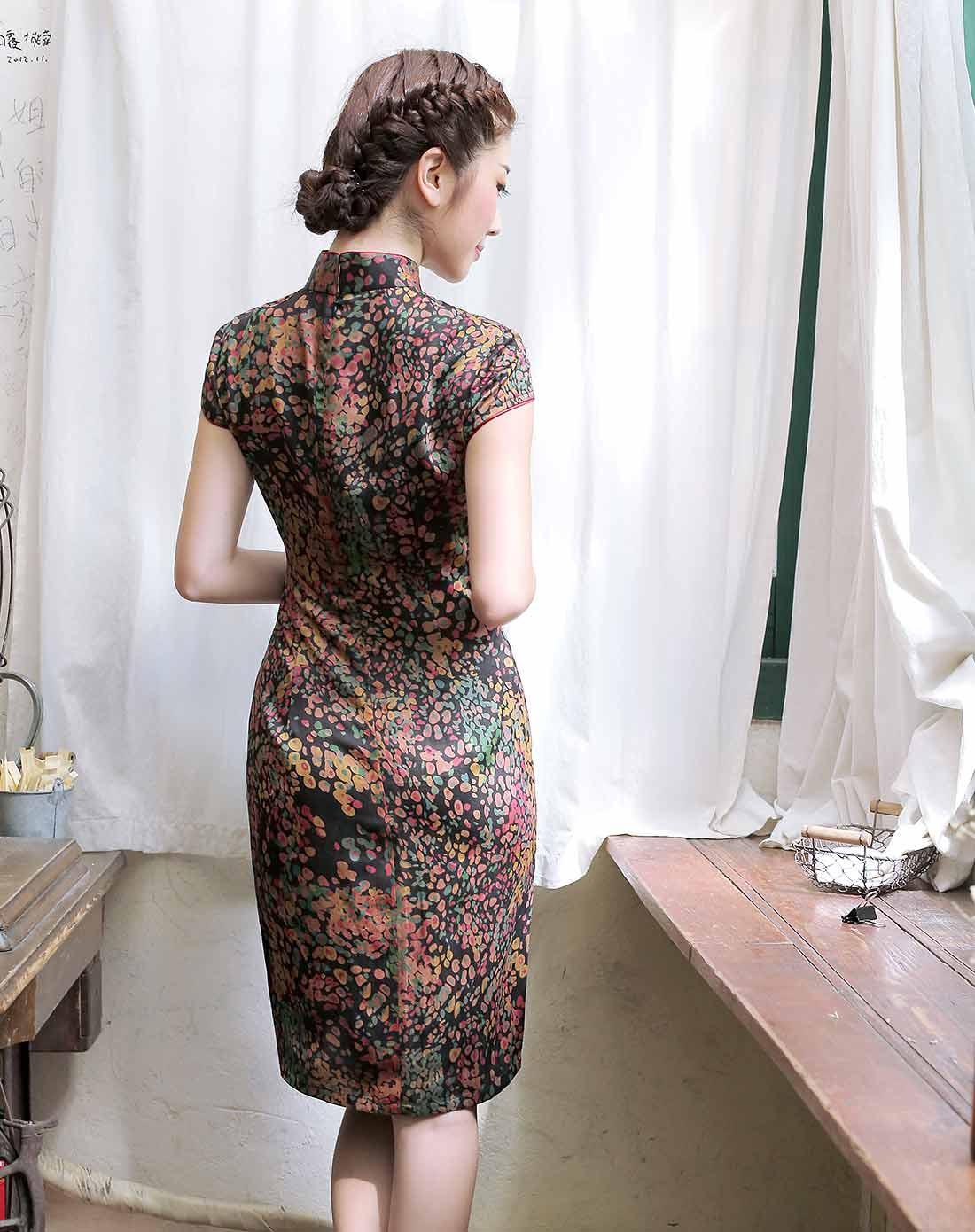 繁漪 香云纱旗袍裙