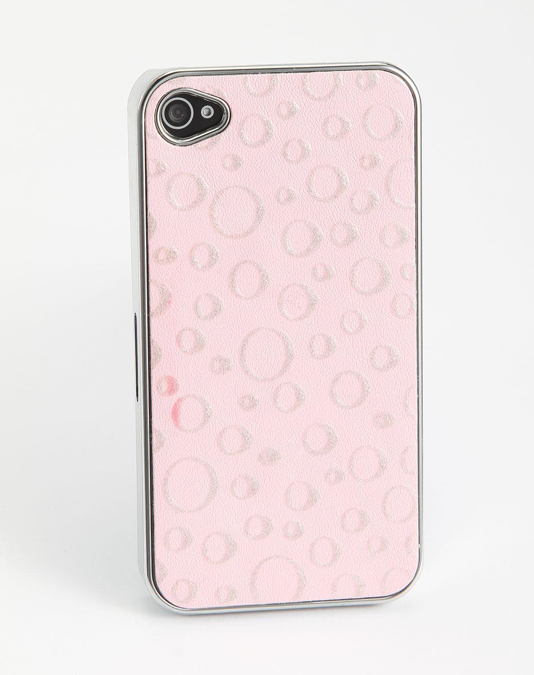 iphone4/4s粉红色梦幻彩圈手机壳