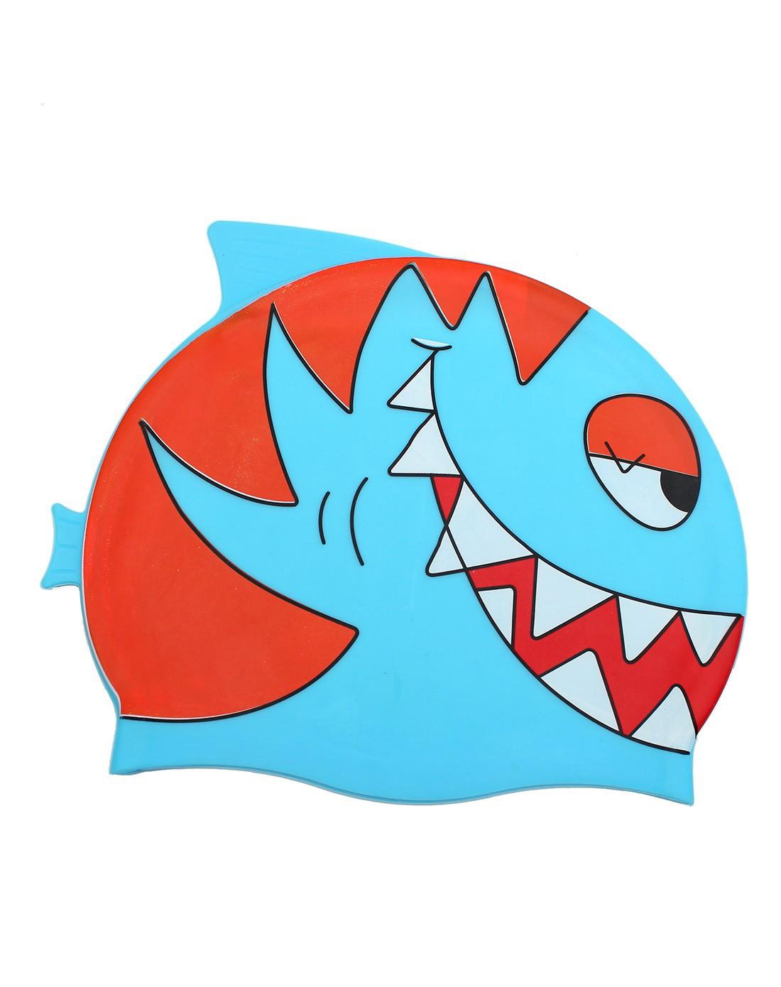 儿童卡通鱼泳帽