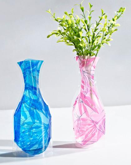 花卉时尚折叠塑料花瓶(温度)