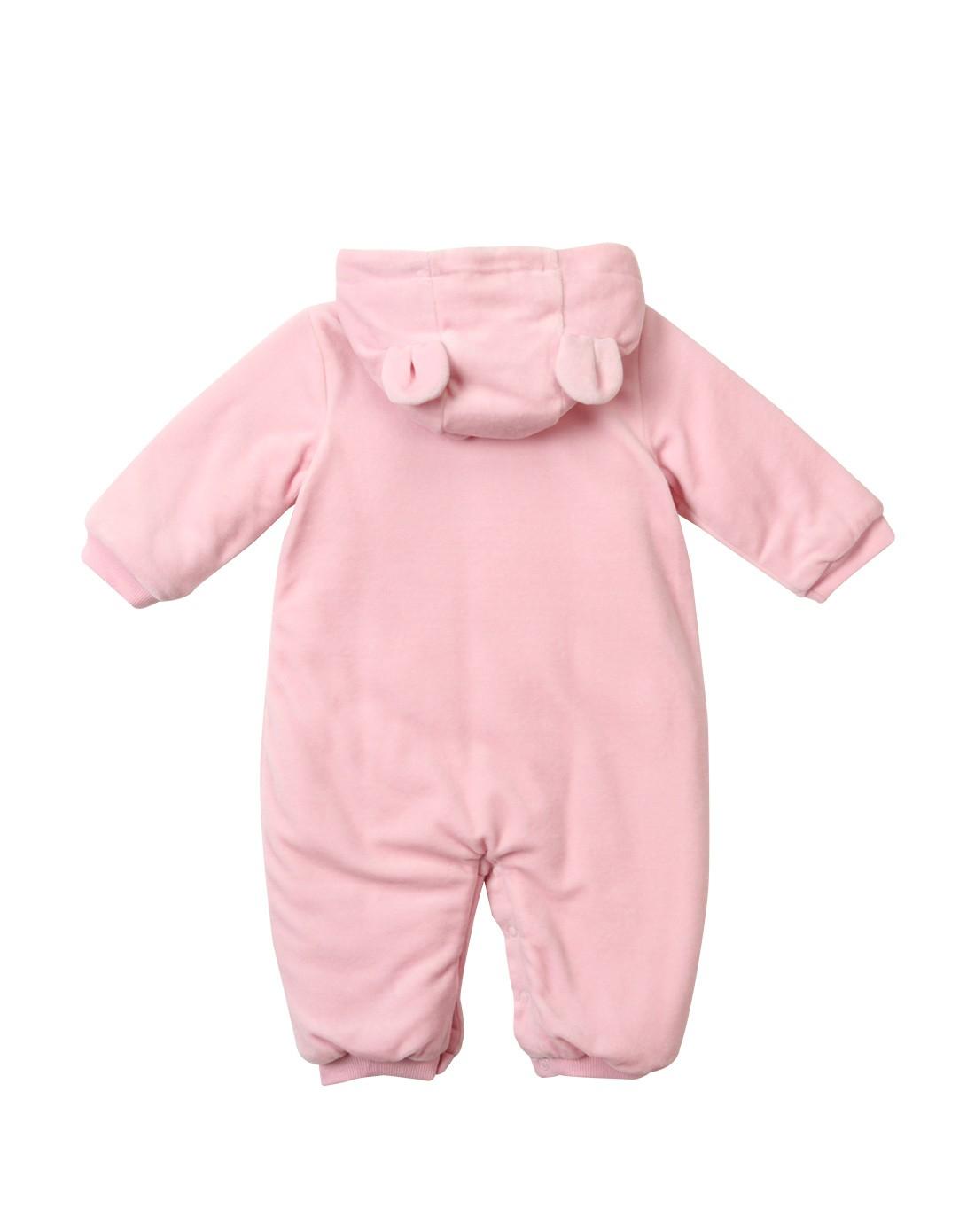中性浅粉色卡通可爱儿童连体衣