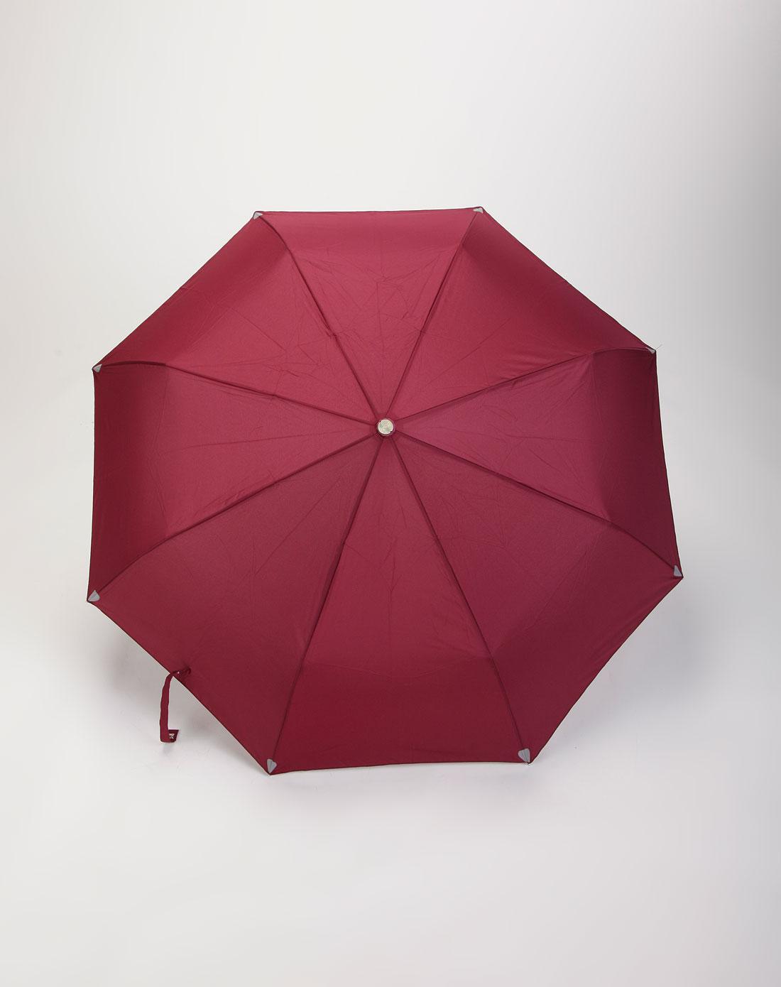 天堂伞 枣红色强力拒水防紫外线自动太阳伞