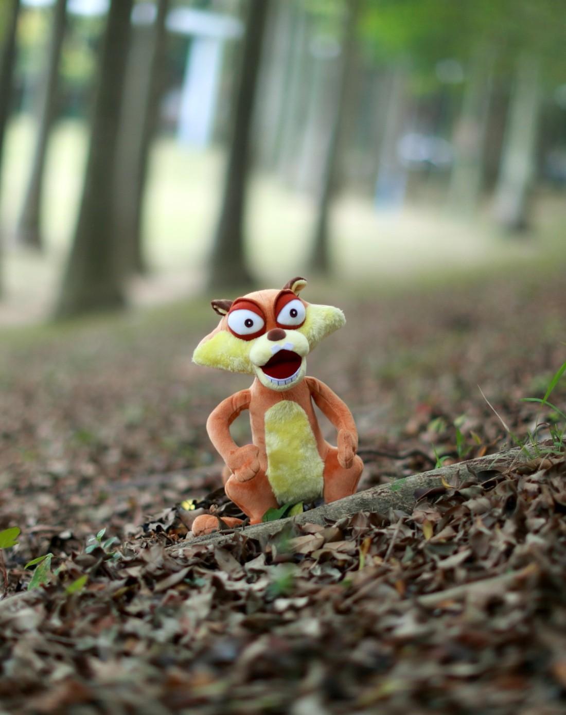 熊出没小松鼠蹦蹦公仔30cm