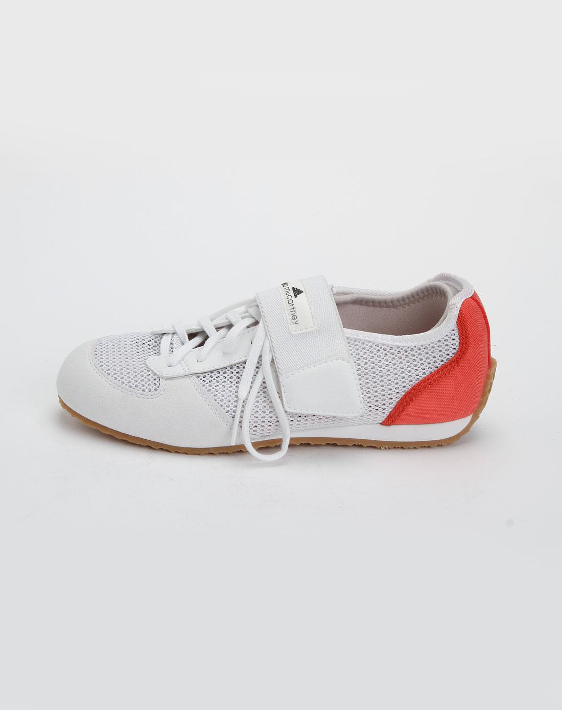 女款白色休闲绑带运动鞋g19415